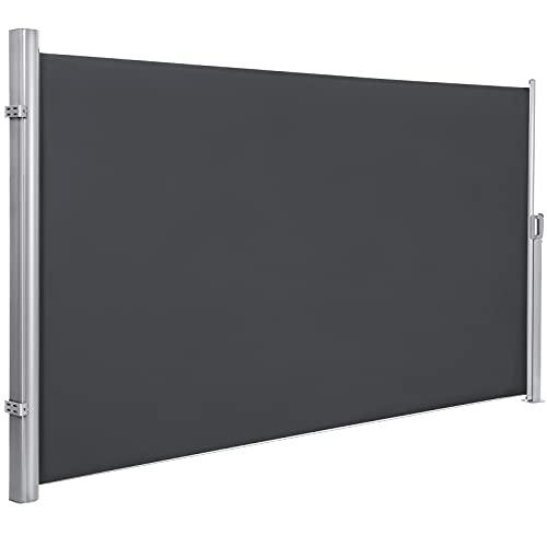 SONGMICS 180 x 350 cm (H x L), Seitenmarkise für Balkon und Terrasse, Sichtschutz, Sonnenschutz,...