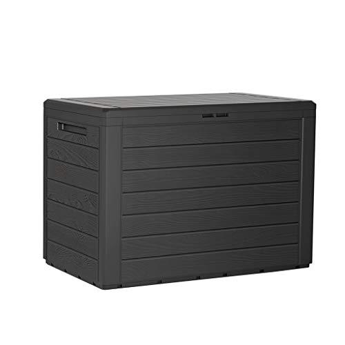 Kreher Kompakte Kissenbox/Aufbewahrungsbox in Anthrazit mit 190 Liter Volumen. Robust, abwaschbar...