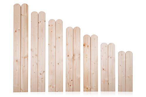 AZZAP Zaunlatten 90cm 15 Stück Holzzaun Holz Zaun Brett Zaunbrett Gartenzaun