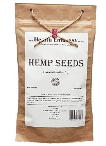 Health Embassy Hanfsamen (Cannabis sativa) / Hemp Seeds, 100g