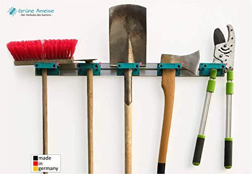 Grüne Ameise Abschließbarer Gerätehalter zur Aufbewahrung von Werkzeug, Besen, Gartengeräte und...