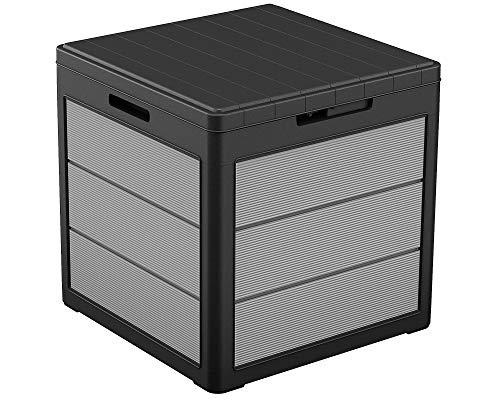 Ondis24 Keter Kissenbox Premier Box, Sitztruhe, XL Gartenbox, Outdoor Auflagenbox, Kissentruhe...